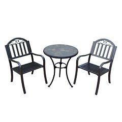 Rochester Outdoor Bistro Table & Chair 3 pc Set