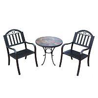 Rochester Outdoor Umbrella-Ready Table & Chair 3 pc Set