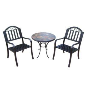 Rochester Outdoor Umbrella-Ready Table & Chair 3-piece Set