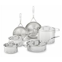 KitchenAid KCC7S10ST 10-pc. 7-Ply Copper Clad Stainless Steel Cookware Set