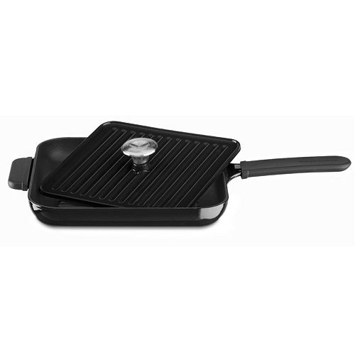 KitchenAid KCI10GP 12-in. Cast-Iron Grill Pan with Panini Press