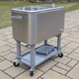 Stainless Steel 20-Gallon Party Cooler Cart