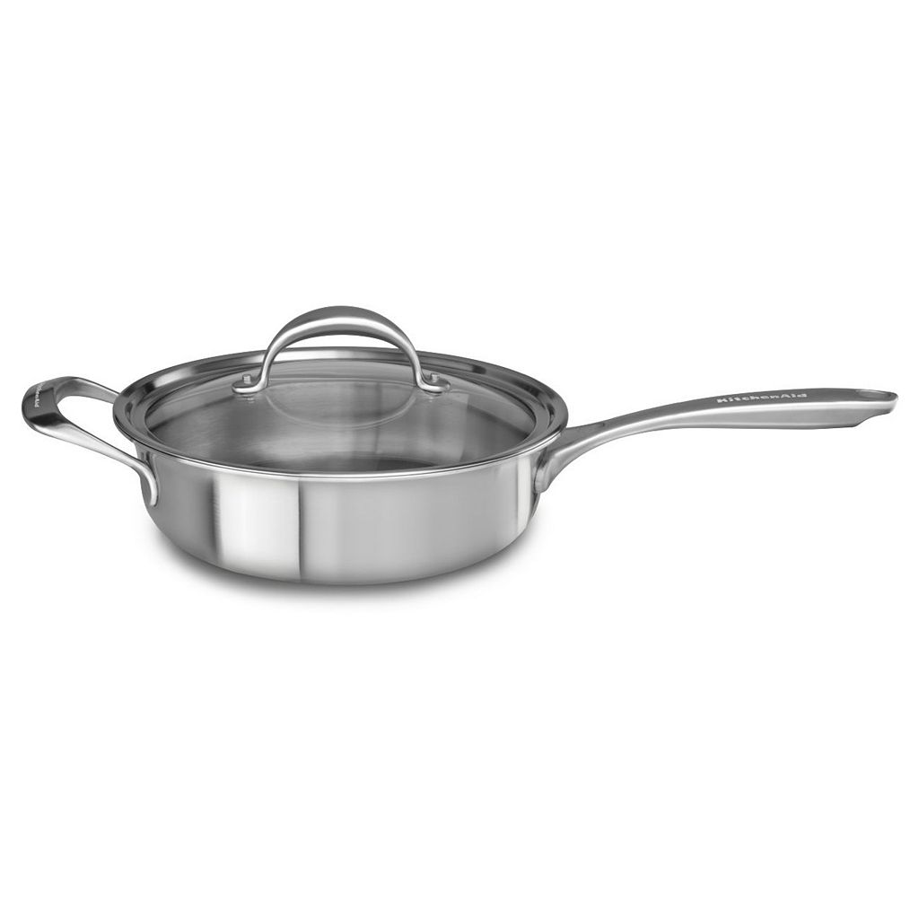 KitchenAid KC2C35EHST 3.5-qt. Copper Clad Stainless Steel Saute Pan
