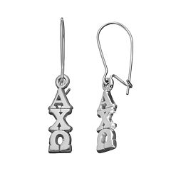LogoArt Alpha Chi Omega Sorority Drop Earrings