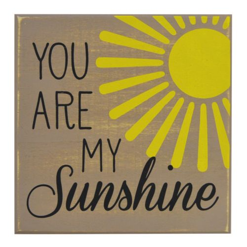 New View You Are My Sunshine Box Sign Art