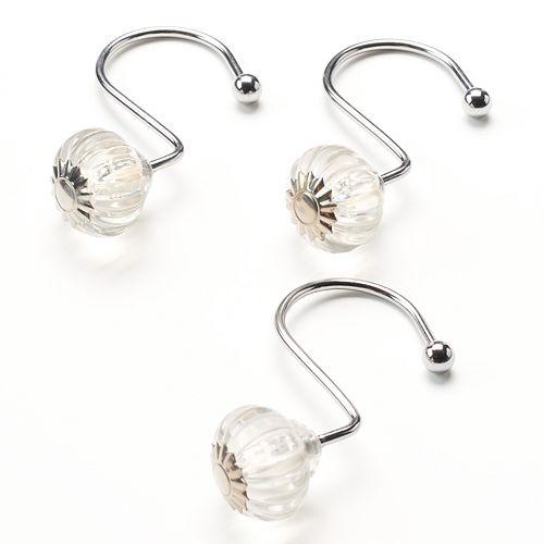 Home Classics® 12-pk. Crystal Shower Hooks