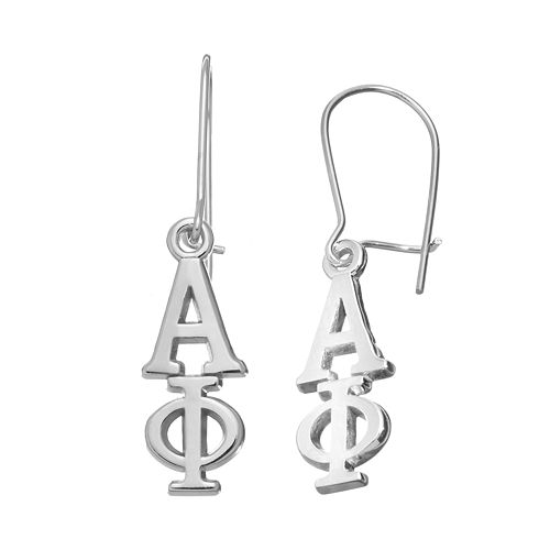 LogoArt Alpha Phi Sorority Drop Earrings