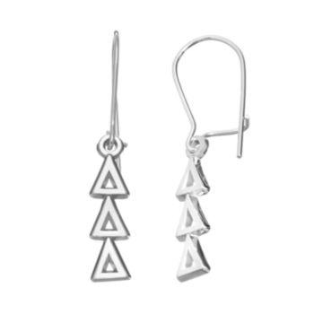 LogoArt Delta Delta Delta Sorority Drop Earrings