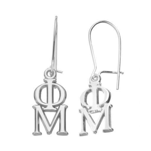 LogoArt Phi Mu Sorority Drop Earrings