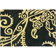 Safavieh Soho Black Green Floral Rug