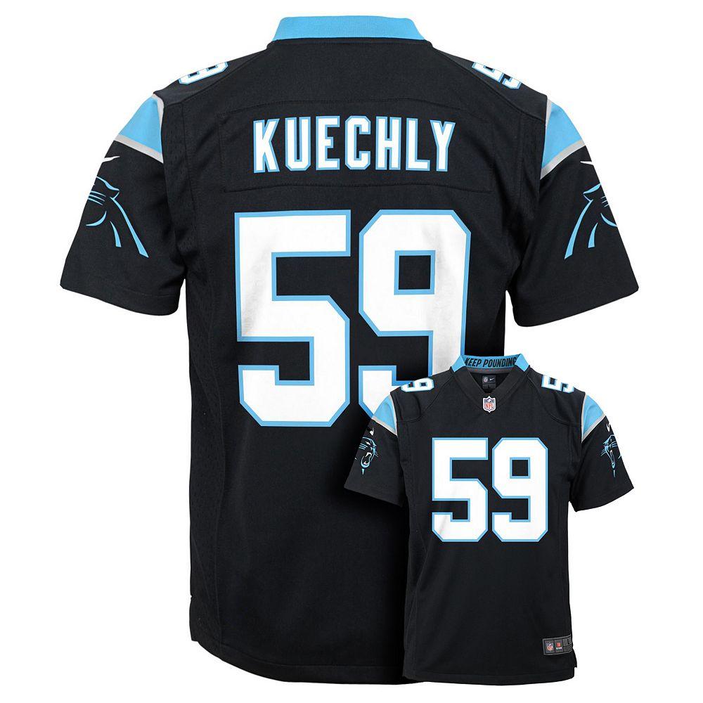 best website b63a4 c1d01 Boys 8-20 Nike Carolina Panthers Luke Kuechly Game NFL Replica Jersey