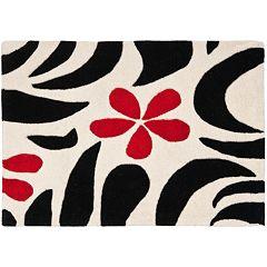 Safavieh Soho Ivory Black Floral Rug