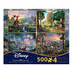 Disney Dreams Collection 4-in-1  500-pc. Puzzles Set by Thomas Kinkade
