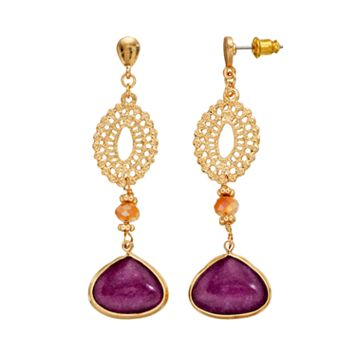 GS by gemma simone Earth Goddess Collection Bead Drop Earrings