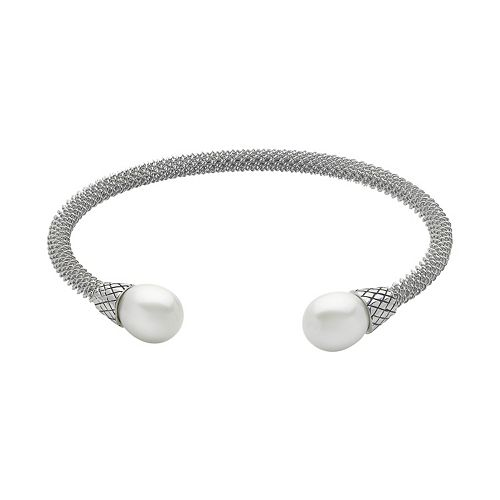 PearLustre by Imperial Sterling Silver Freshwater Cultured Pearl Cuff Bracelet
