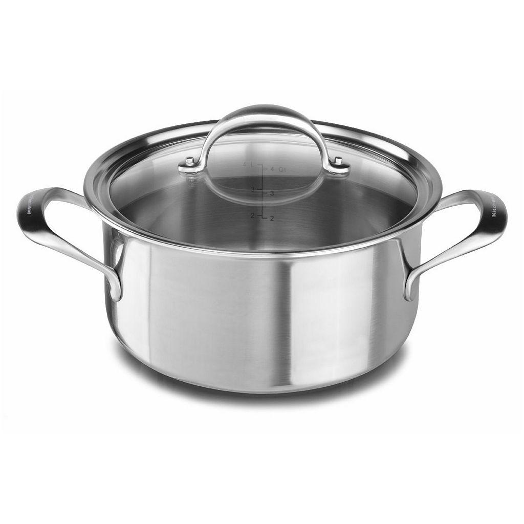 KitchenAid KC2C60LCST 6-qt. Copper Clad Stainless Steel Casserole Dish
