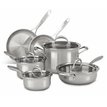 KitchenAid KC2CS10ST 10-pc. 5-Ply Copper Clad Stainless Steel Cookware Set