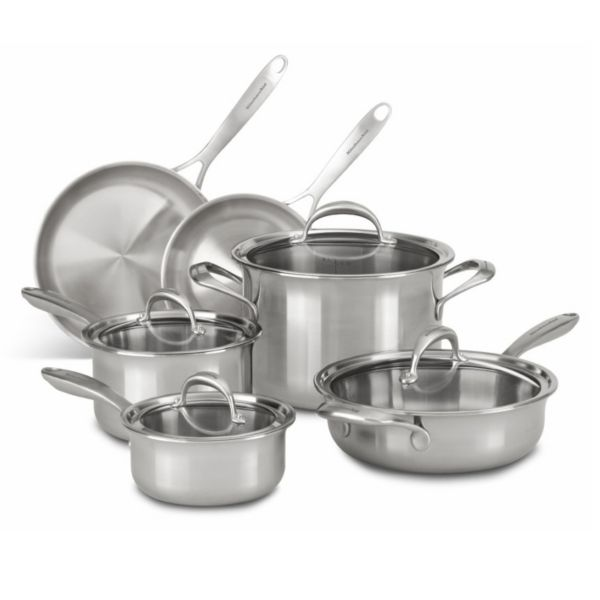 Kitchenaid Kc2cs10st 10 Pc 5 Ply Copper Clad Stainless