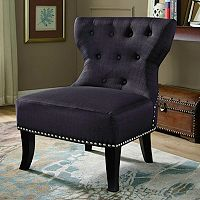 Simpli Home Kitchener Charcoal Accent Chair