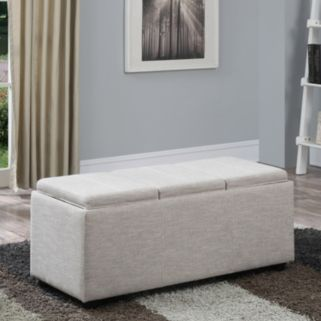 Simpli Home Avalon Extra Large Rectangular Storage Ottoman
