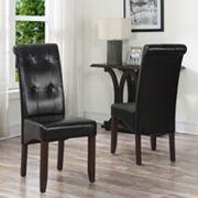 Simpli Home Cosmopolitan Deluxe Tufted Parson Chair 2-piece Set