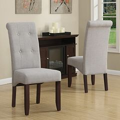 Simpli Home Cosmopolitan 2 pc Deluxe Tufted Parson Chair