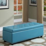 Simpli Home Hamilton Faux-Leather Storage Bench