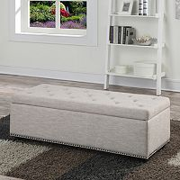 Simpli Home Hamilton Storage Bench