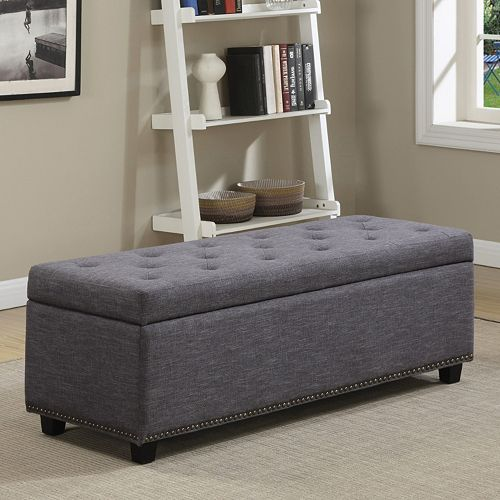Simpli Home Hamilton Storage Bench