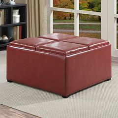 Simpli Home Avalon Coffee Table Storage Ottoman