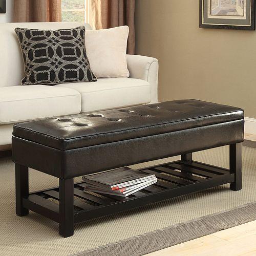 Simpli Home Cosmopolitan Rectangular Storage Bench