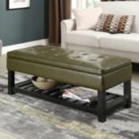 Simpli Home Cosmopolitan Rectangular Storage Bench