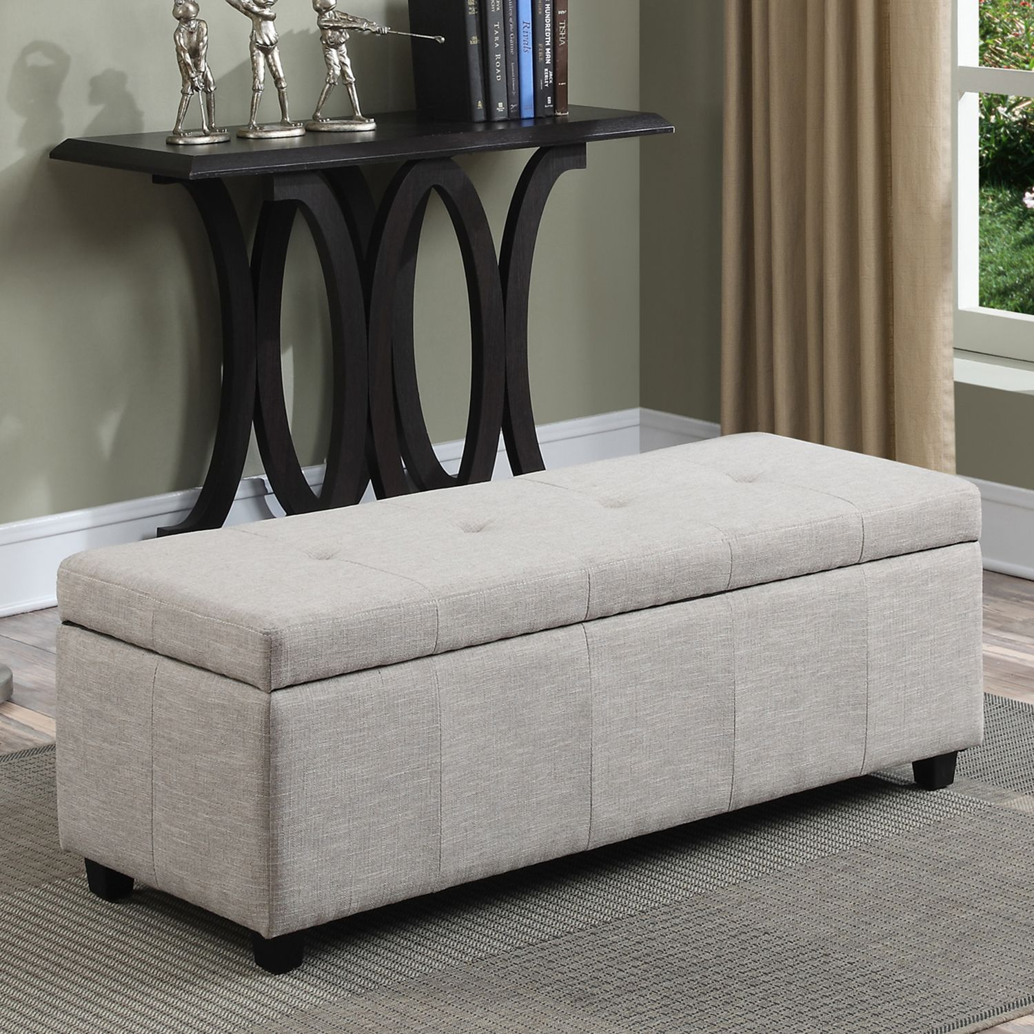 Home Castleford Large Rectangular Storage Ottoman Bench