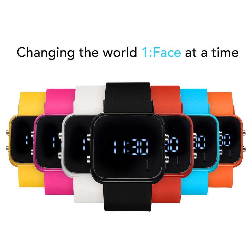 1:Face AIDS Unisex Digital Watch