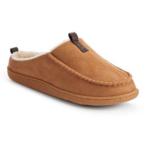 2da2be9e7c44 IZOD Men s Microsuede Moccasin Clog Slippers