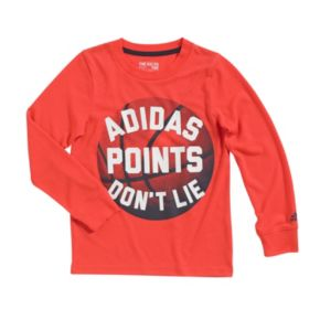"Boys 4-7x adidas Go-To ""Points Don't Lie"" Basketball Tee"