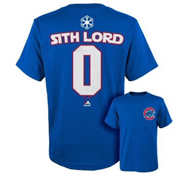 Boys 8-20 Majestic Chicago Cubs Star Wars Sith Lord Name and Number Tee