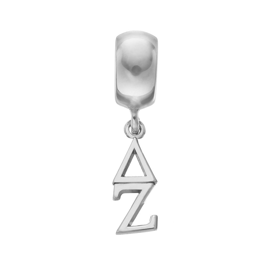 LogoArt Sterling Silver Delta Zeta Sorority Charm