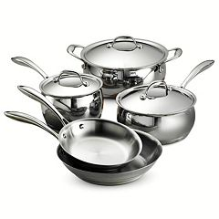 Tramontina Gourmet Domus Tri-Ply Stainless Steel 8 pc Cookware Set