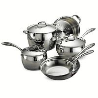 Tramontina Gourmet Domus Tri-Ply Stainless Steel 9 pc Cookware Set