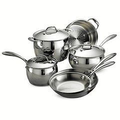Tramontina Gourmet Domus Tri-Ply Stainless Steel 9-pc. Cookware Set