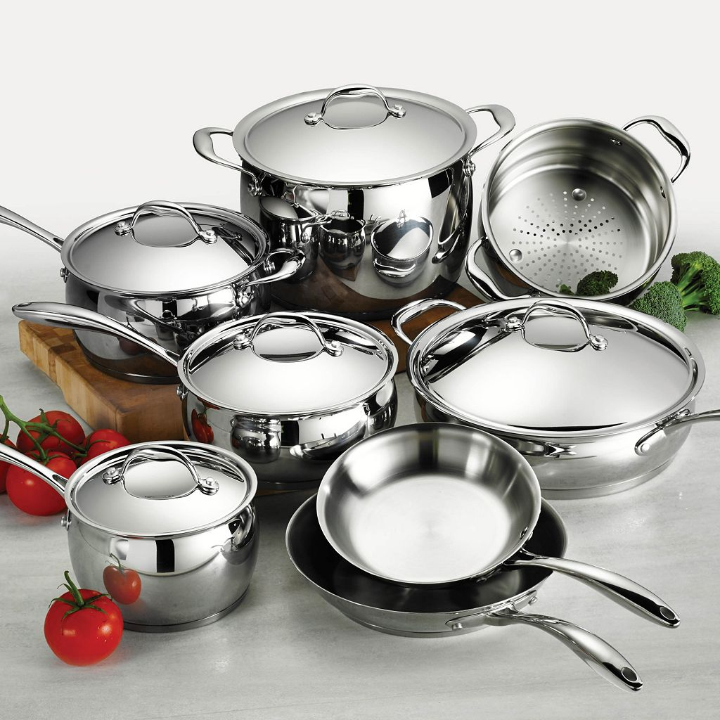 Tramontina Gourmet Domus Tri-Ply Stainless Steel 13-pc. Cookware Set