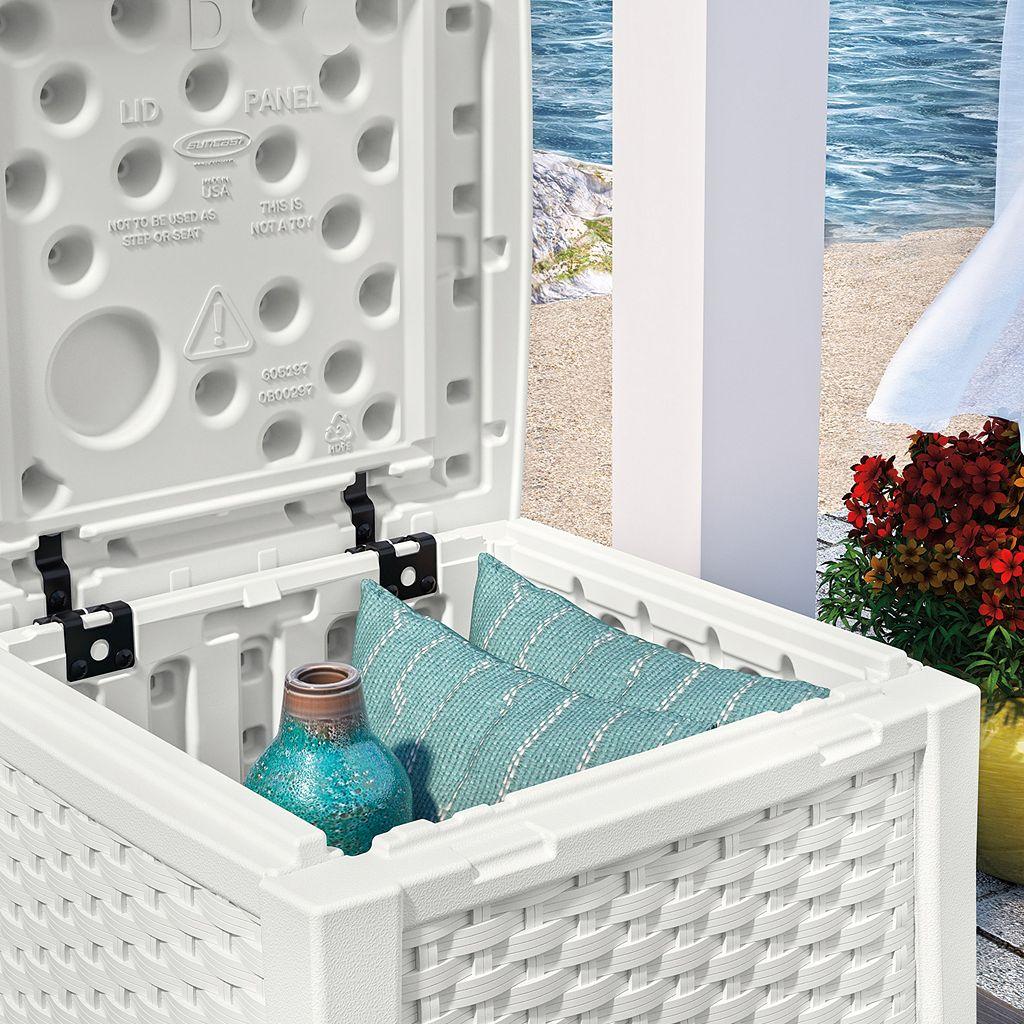 Suncast Side Table Storage Box - Outdoor