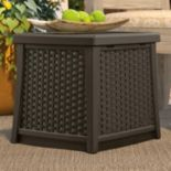 Suncast Side Table Storage Box - Outdoor
