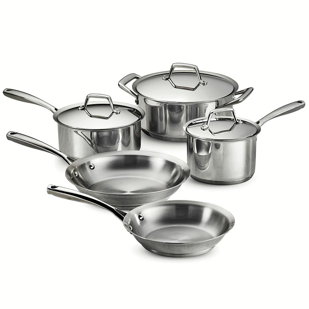 Tramontina Gourmet Prima Tri-Ply Stainless Steel 8-pc. Cookware Set