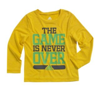 """Boys 4-7x adidas climalite """"The Game Is Never Over"""" Tee"""