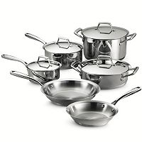 Tramontina Gourmet Prima Tri-Ply Stainless Steel 10 pc Cookware Set