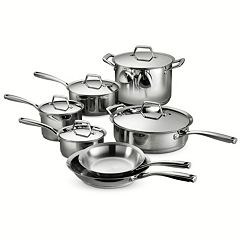 Tramontina Gourmet Prima Tri-Ply Stainless Steel 12 pc Cookware Set