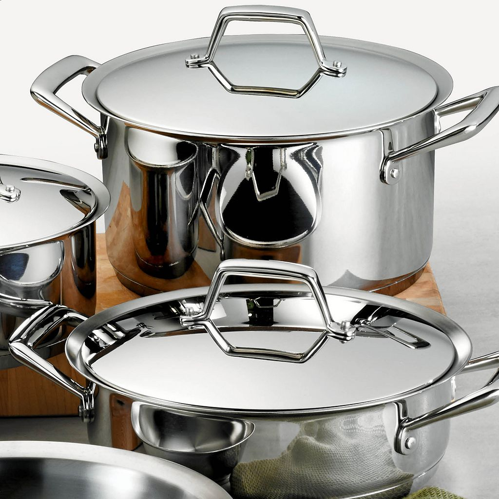 Tramontina Gourmet Prima Tri-Ply Stainless Steel 12-pc. Cookware Set