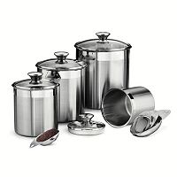 Tramontina Gourmet 8 pc Stainless Steel Kitchen Canister Set